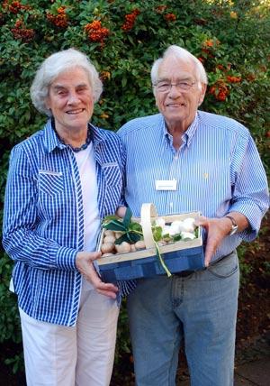 Ingeburg und Eberhard Peters haben im In- und Ausland viele Freunde unter den Champignonanbauern