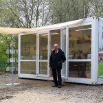 In einem Container bietet der BDC viele Informationen rund um die Kultur von Pilzen.