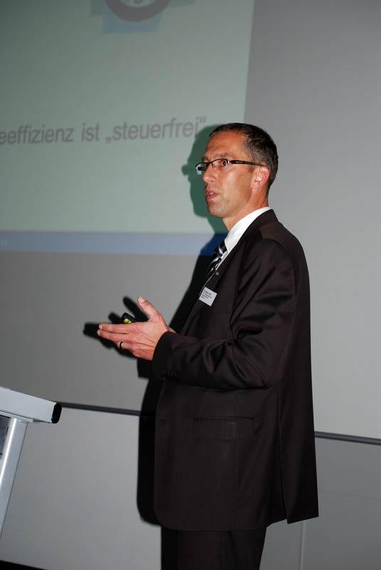 Christian Otto zeigte den BDC-Mitgliedern verschiedene Möglichkeiten beim Umgang mit der immer teureren Energie auf