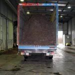 LKW ohne Kennzeichen weil nur für den innerbetrieblichen Transport von Phase II zu Phase III
