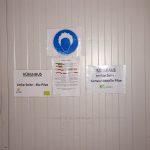Links Bio, rechts konventionell – marktfertige Ware im gemeinsamen Kühlhaus