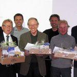 Der VSP-Vorstand (von links): Roland Vonarburg (abtretender Präsident), Fritz Burkhalter (Sekretär), Sepp Häcki, Patrick Romanens (Vizepräsident), Cédric Stadler, Hans Zürcher, Daniel Suter (neuer Präsident)