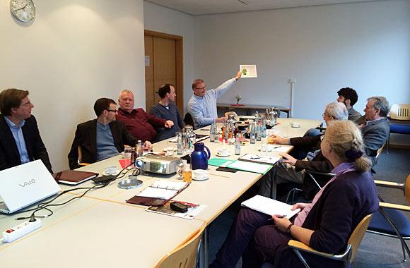 Beim vorweihnachtlichen Treffen in Bonn konnten wichtige Fragen zur Zusammenarbeit mit der Agentur Leonardo geklärt werden
