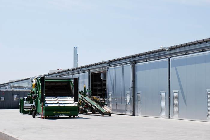 Kompakte Bauweise und möglichst zentral gelagerte Transformatoren und Heizanlagen helfen beim Energiesparen – hier die Außenansicht vom neuen Betrieb Deckers in Bürstadt.