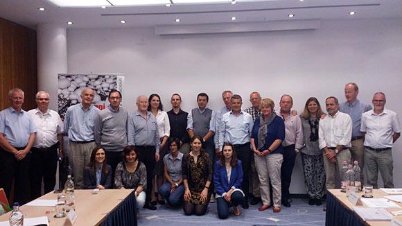 Das Treffen in Budapest war sehr gut besucht, dritter von links ist Didier Motte, der aktuelle Präsident der GEPC.