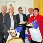 Gäste der BDC-Vorstandssitzung in Hannover: BDC-Vorsitzender Michael Schattenberg, Gabriele Harring, Michael Legrand, BDC-Geschäftsführer Jochen Winkhoff und Ronama Hoffmann.