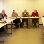 Réjane Mazier, zweite von links, und der GEPC-Vorsitzende, Didier Motte, recht neben ihr, diskutieren aktuellen Themen und Zahlen mit ihren eurpäischen Kollegen.