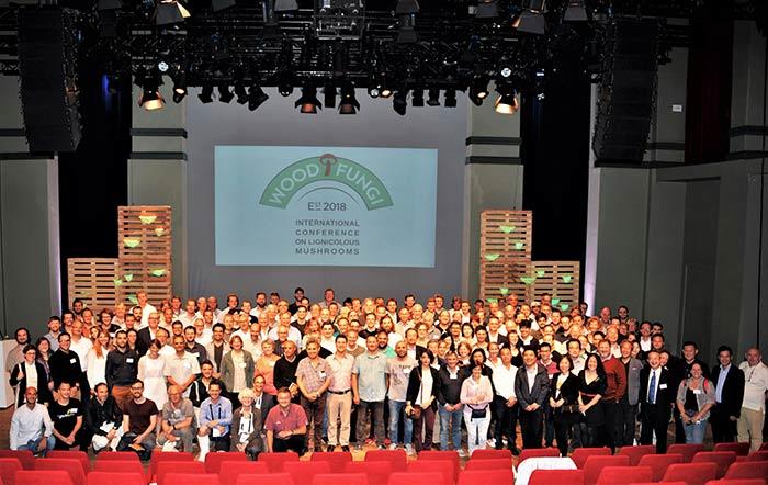 250 Teilnehmer aus 40 Ländern trafen sich in Gent zu Wood Fungi Conference. Bild: Roel Dreve/Mushroom Business