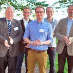 Der neu gewählte Vorstand des BDC, von links nach rechts: Vorsitzender Michael Schattenberg, Stellvertreter Waldemar Schuler, Bernd Böging, Schatzmeister Marco Deckers und Dr. Thorben Kruse.