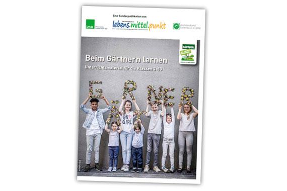 """Das fröhliche Titelbild des Magazins """"Beim Gärtnern Lernen"""" verspricht, was der gut gemachte Inhalt hält."""